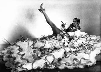 Josephine Baker and acres of skirt. Not shy.