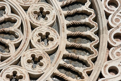 Detail of a rose window