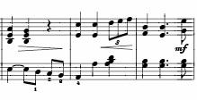 musical score of a Handel aria