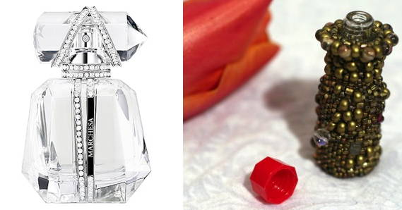 Parfum d'Extase, and a bedazzled mini Tabasco bottle. Choose. But choose wisely.