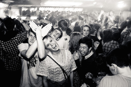 Youth Clubbing in black and white.